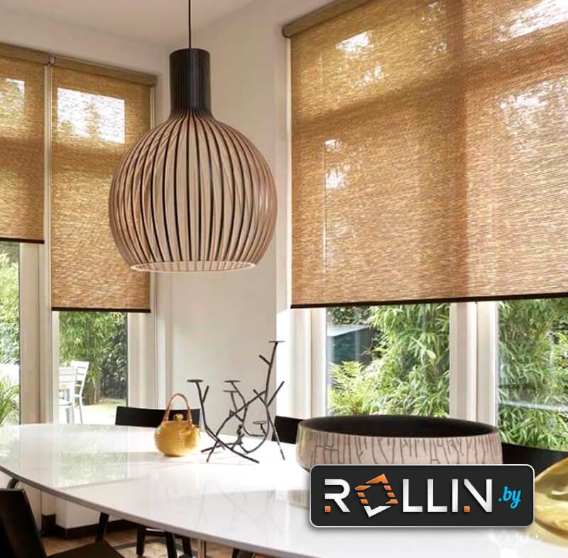 Рулонные текстурированные тканевые шторы