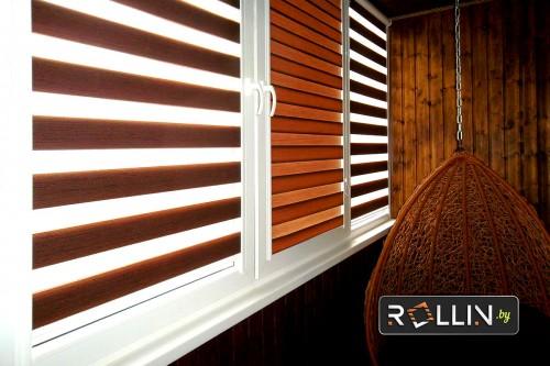 Рольшторы день-ночь система UNI для балкона